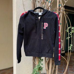 NEW PINK Victoria's Secret Black Zip-Up Jacket